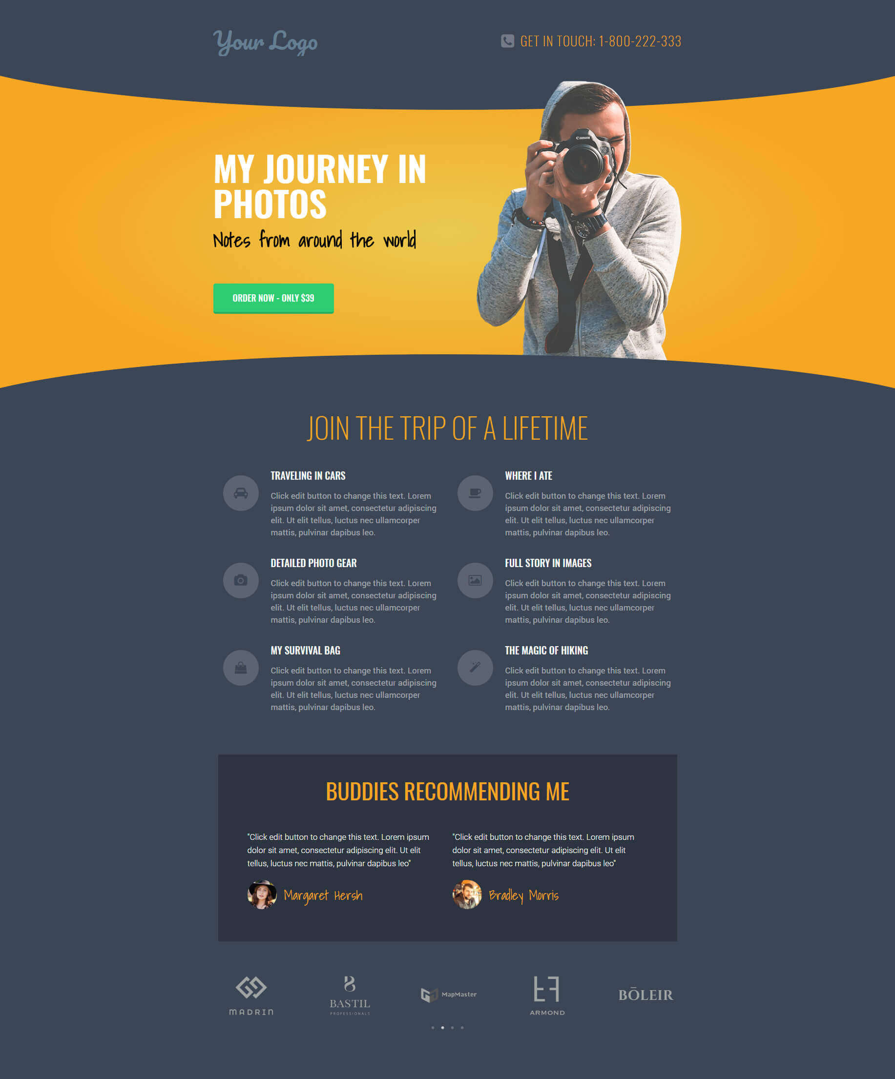 Landing Page – Photography