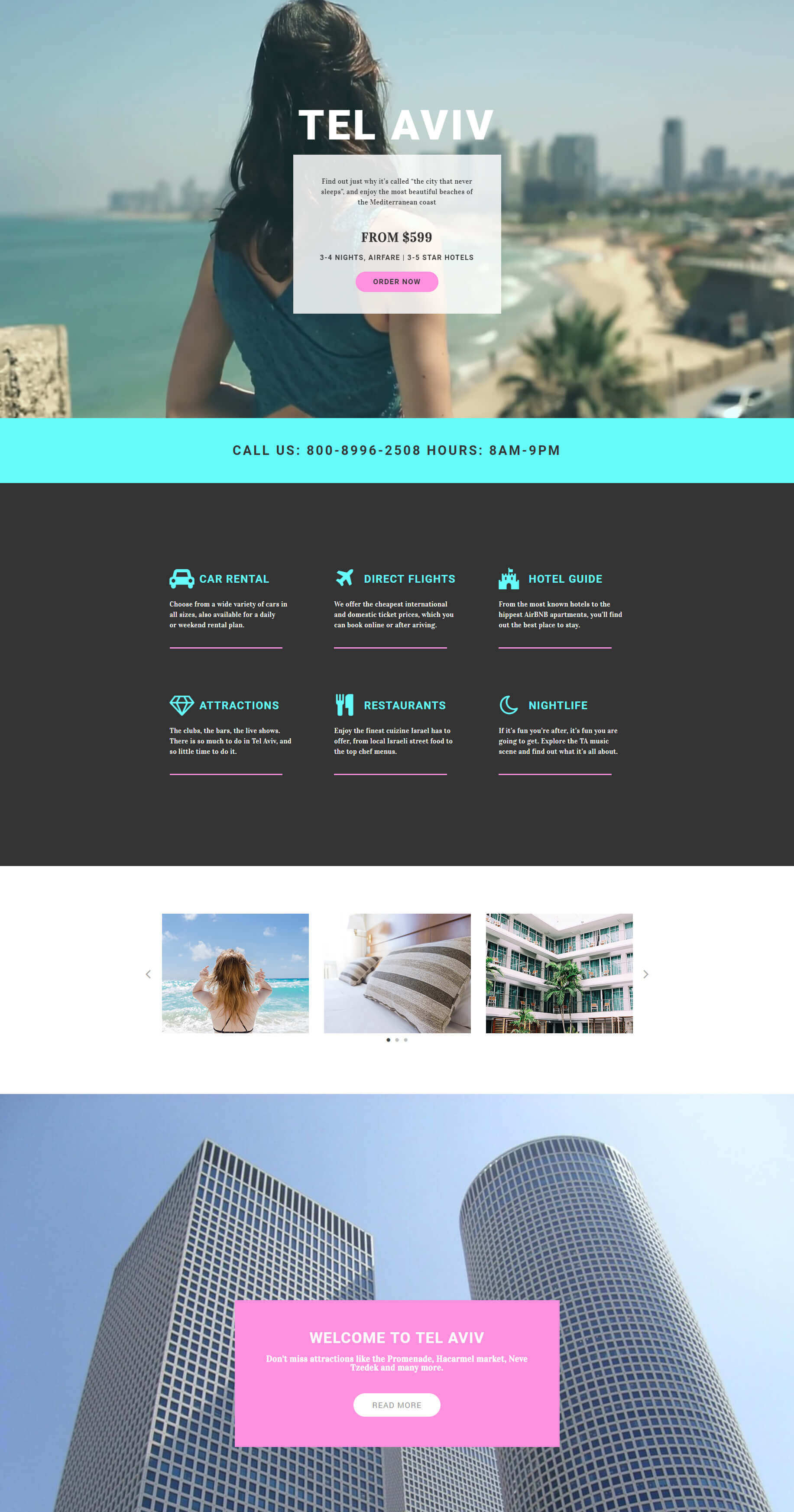 Vacation – Landing Page