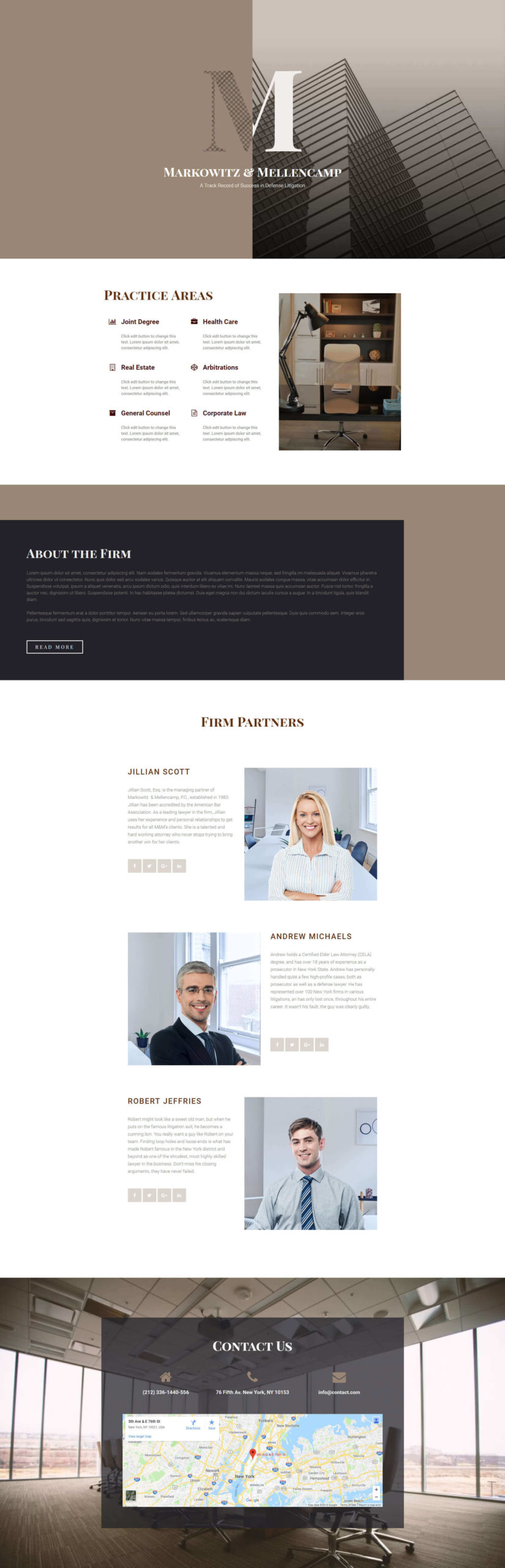Homepage – Law Firm