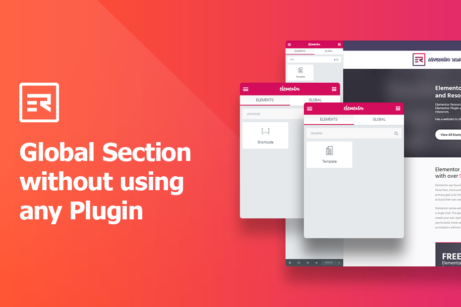 Global Section without using any Plugin