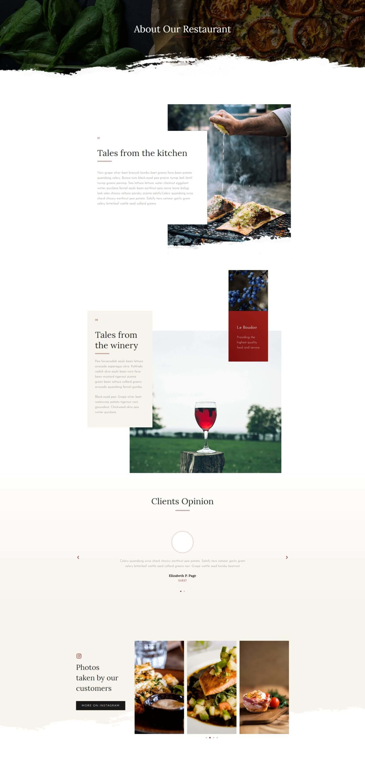 Restaurant Site – About
