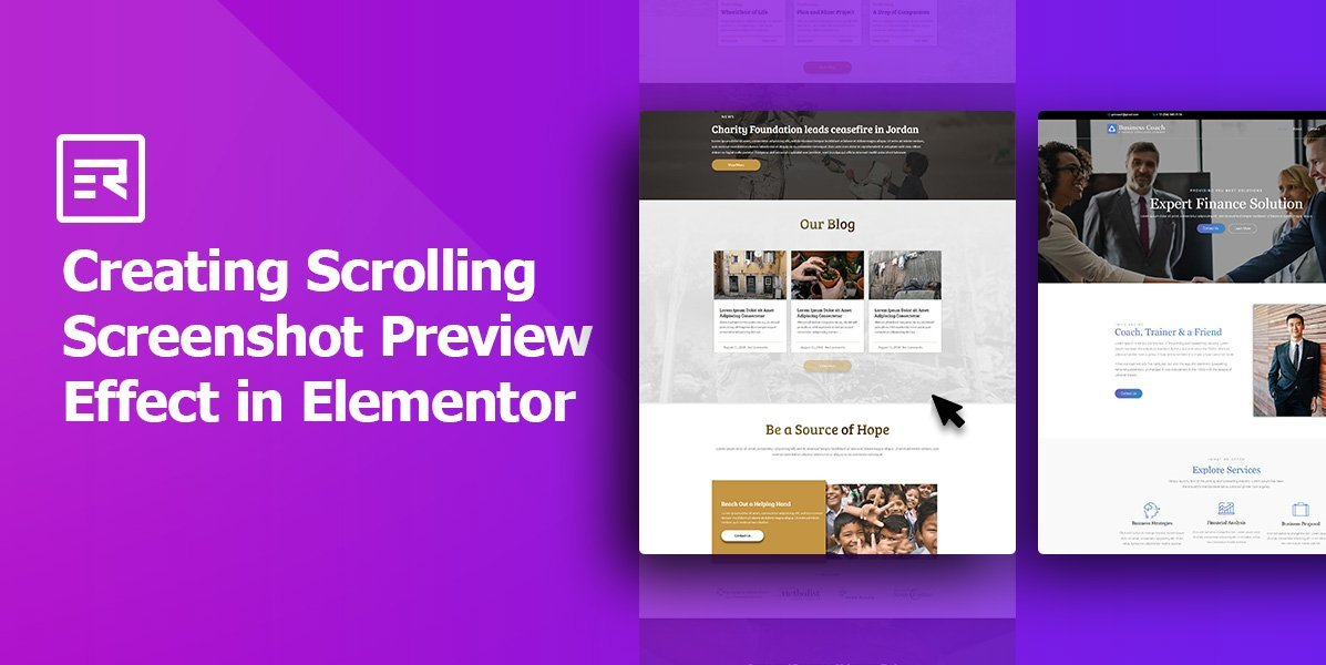 Creating Scrolling Screenshot Preview Effect in Elementor