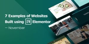 7 Examples of Websites Built using Elementor for November