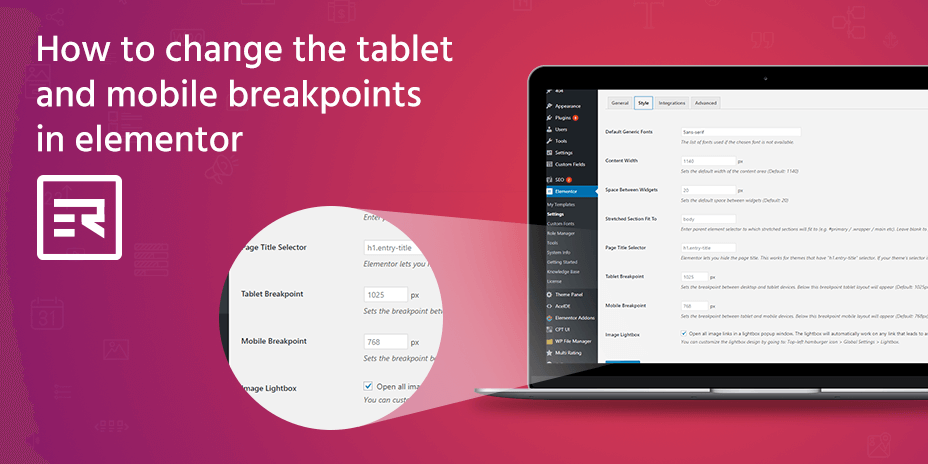 How to Change the Tablet and Mobile Breakpoints in Elementor