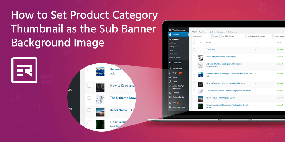 How to Set Product Category Thumbnail as the Sub Banner Background Image