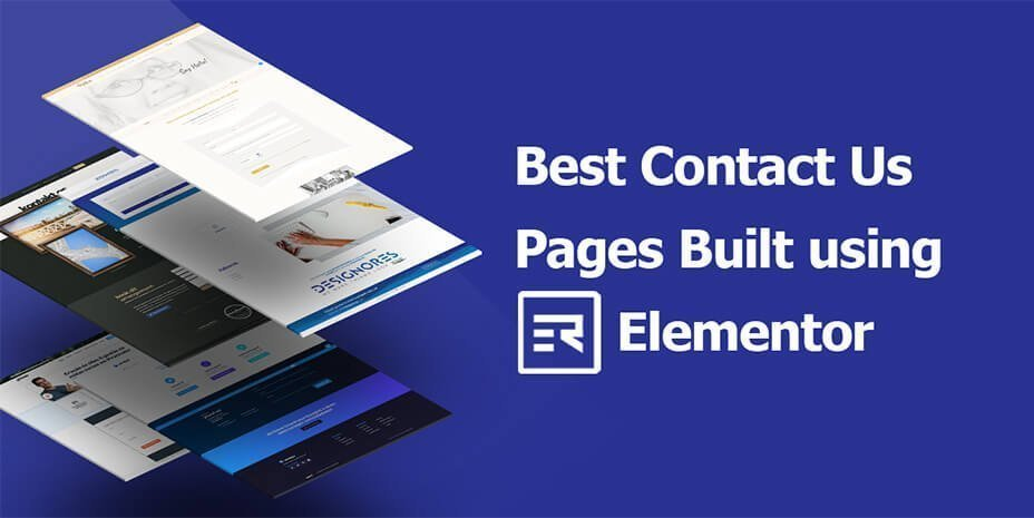 Best Contact Pages Built Using Elementor