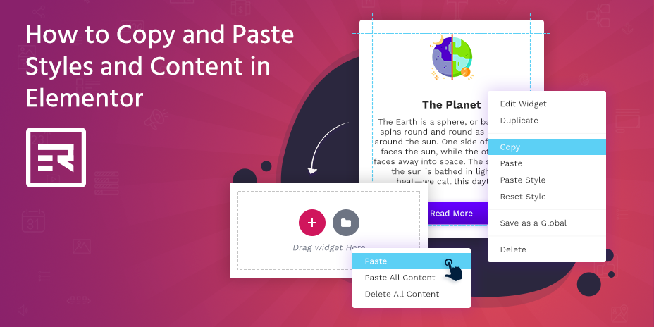 How to Copy and Paste Styles and Content in Elementor
