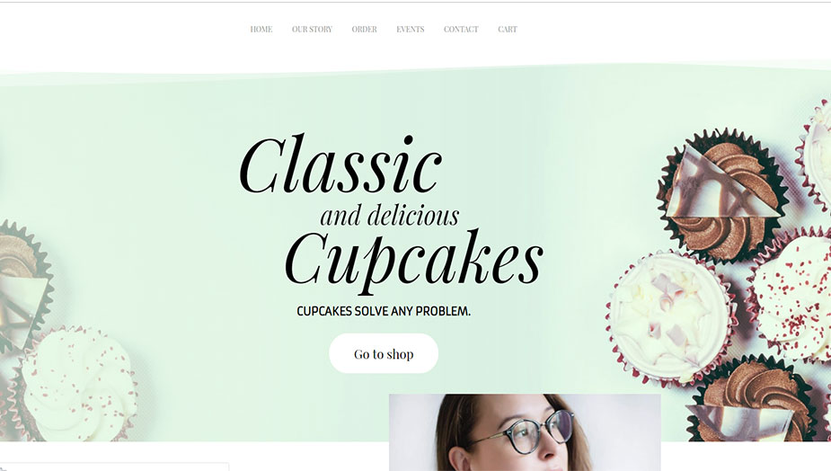 cupcake website elementor template this 2019