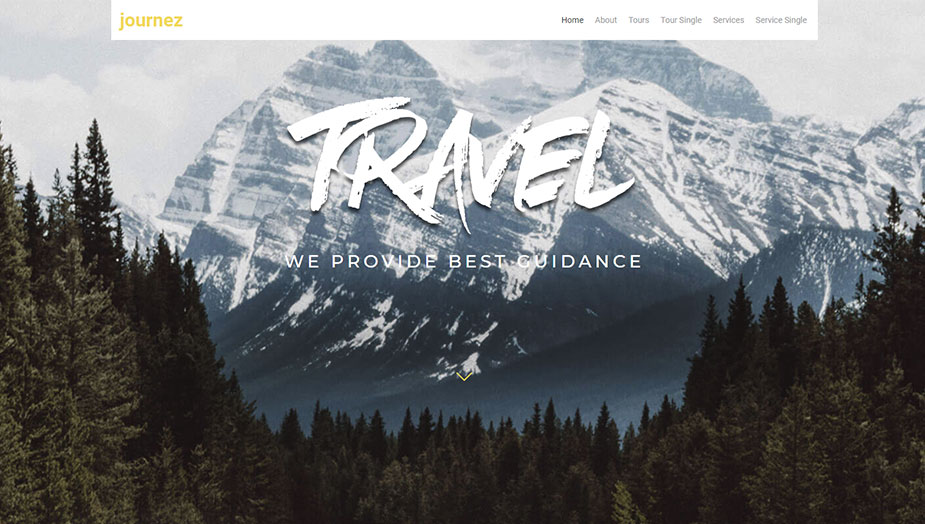 Tourism website elementor template this 2019