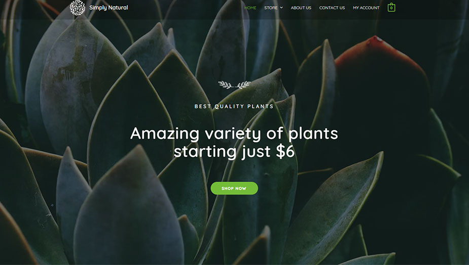 plant online shop website elementor template this 2019