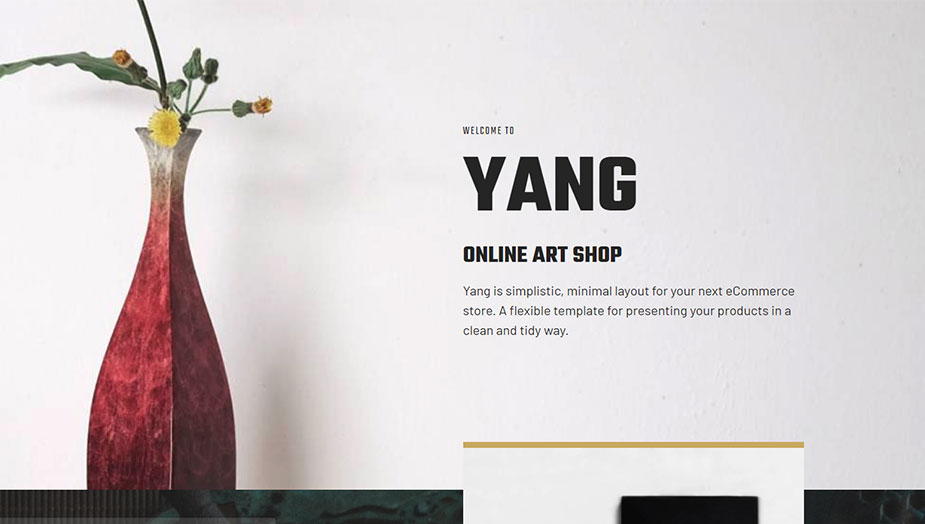 online shop and art website elementor template this 2019