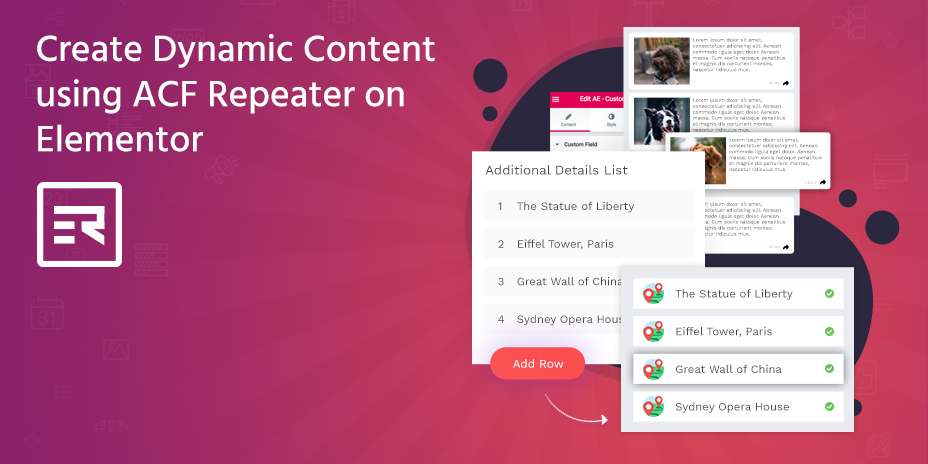 Create Dynamic Content using ACF Repeater on Elementor
