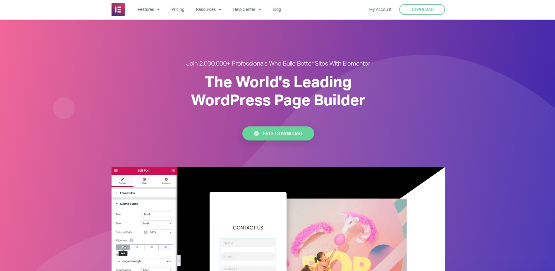 Marketing website elementor template this 2019