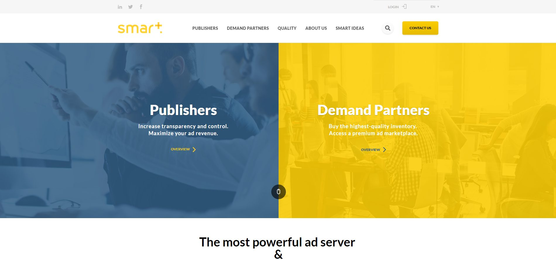 Cloud services hosting website elementor template this 2019