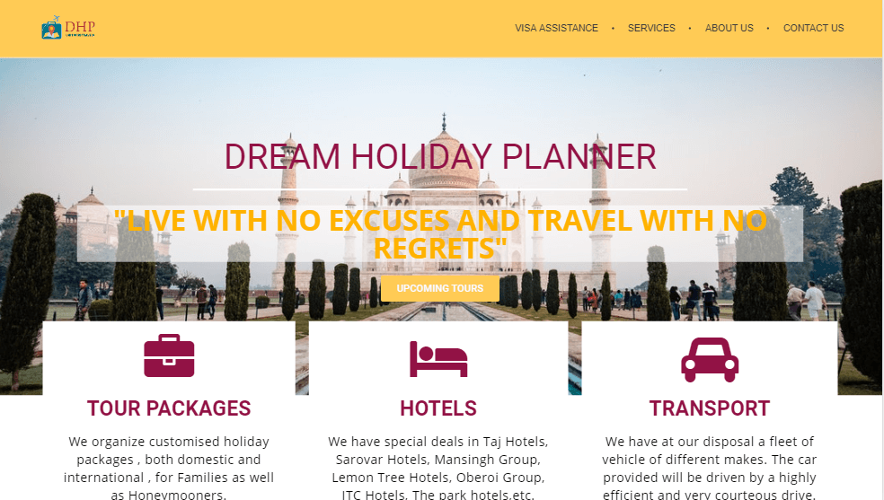 dream holiday planner