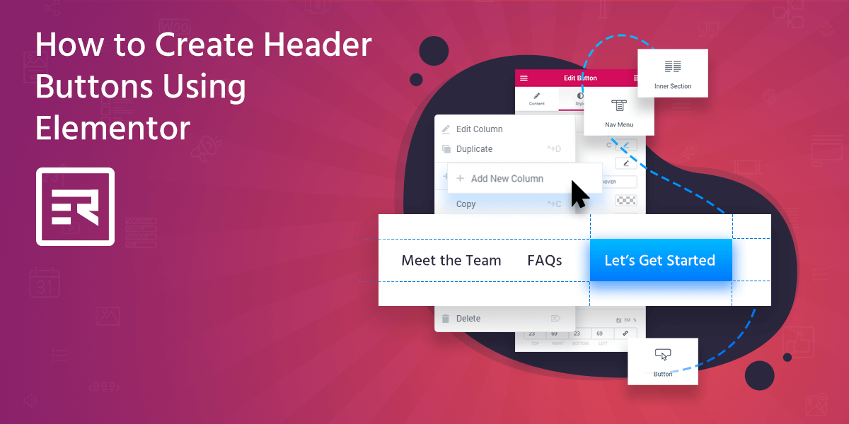 How to Create Header Buttons Using Elementor