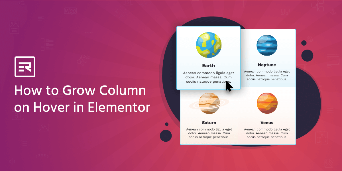 How to Grow Column on Hover in Elementor