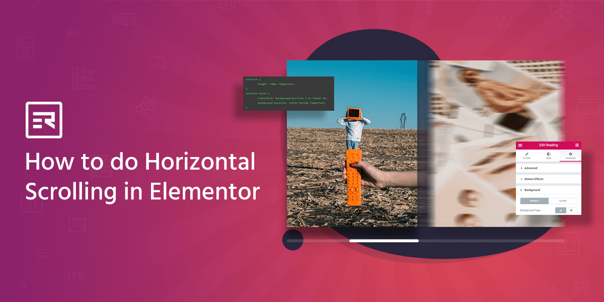 How to do Horizontal Scrolling in Elementor