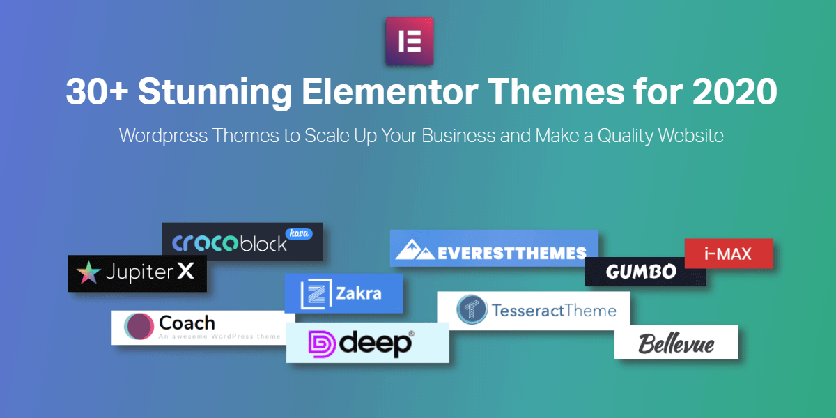 20 greatest elementor themes V4