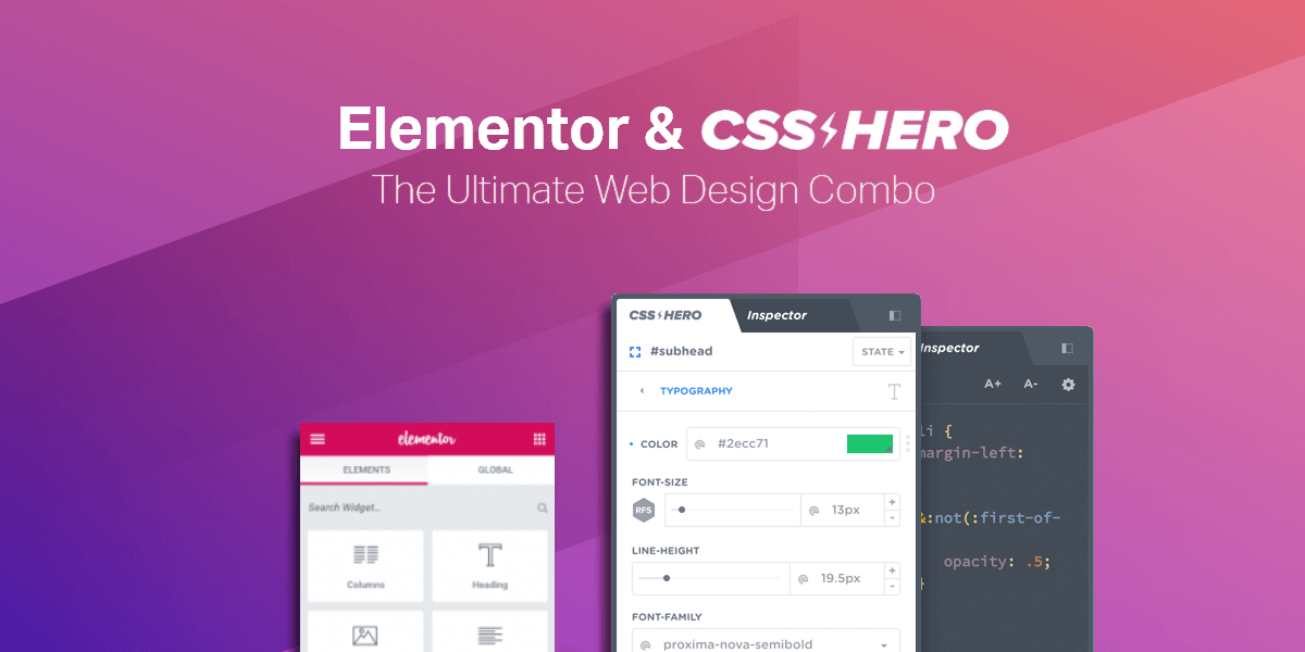 Elementor & CSSHero: The Ultimate Web Design Combo