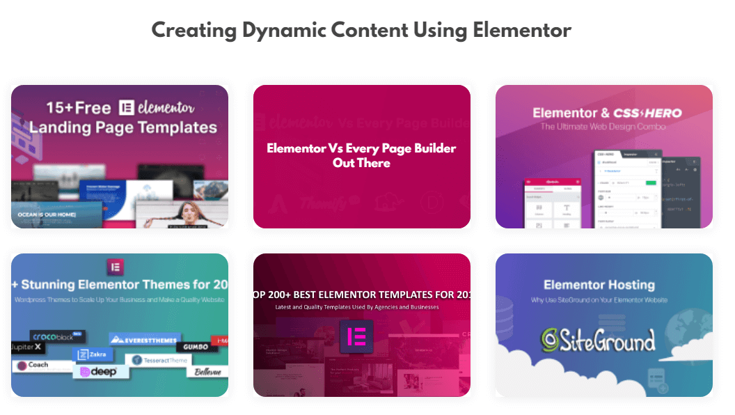 Creating Dynamic Content Using Elementor5